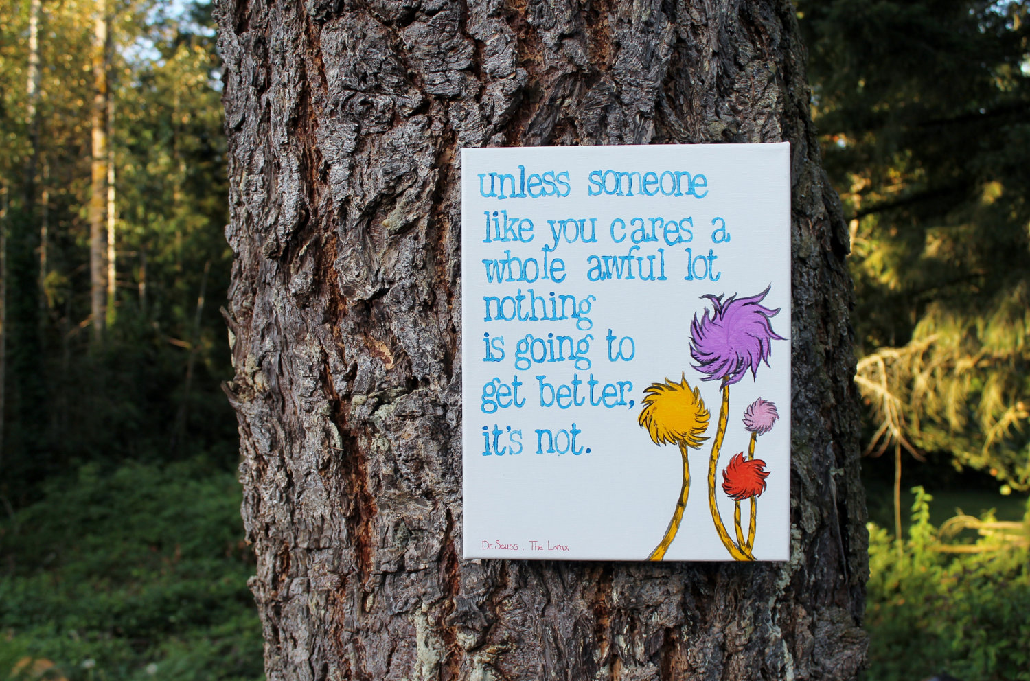 Following the advice of the great Dr. Seuss.